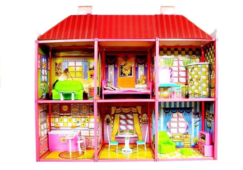 Viking Choice Poppenhuis - Grote villa met meubels + GRATIS POP
