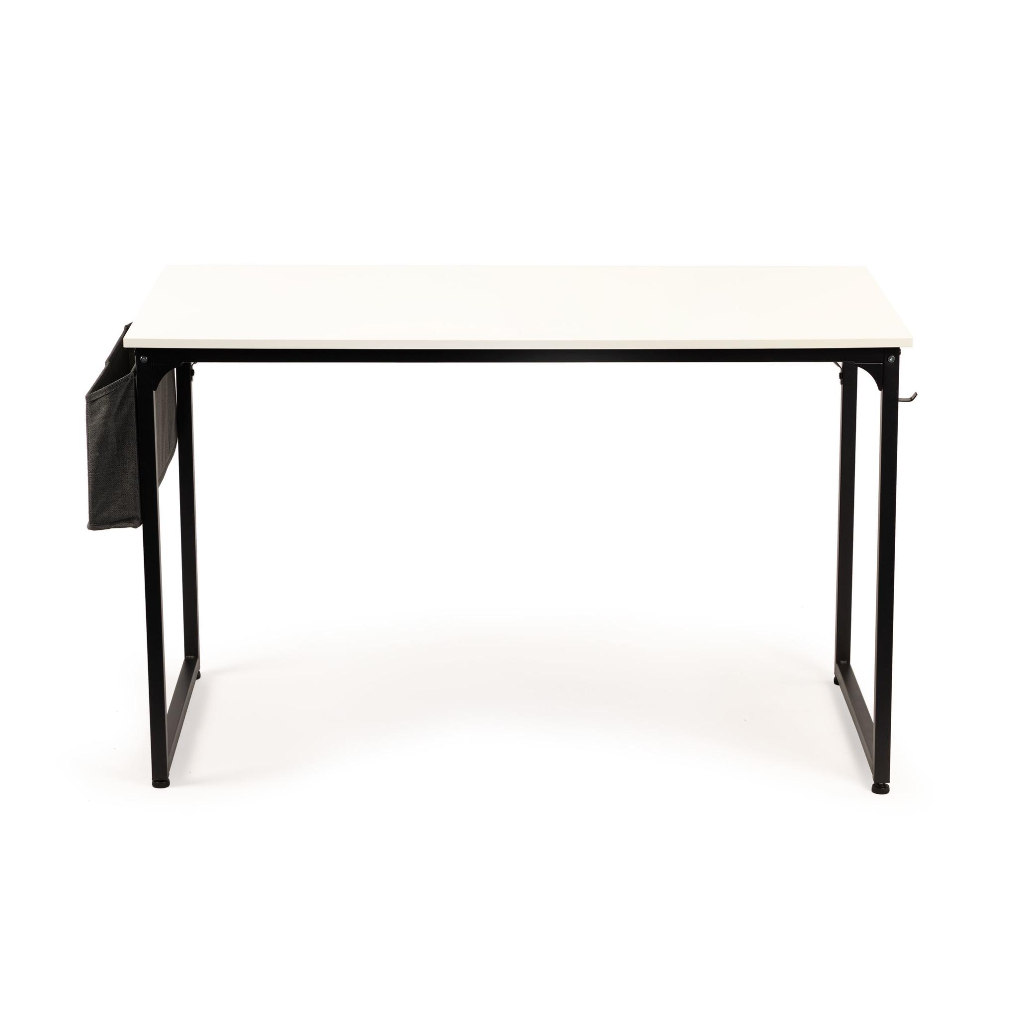 Viking Choice Bureautafel met tijdschriften tas - 120 x 60 x 74 cm - wit