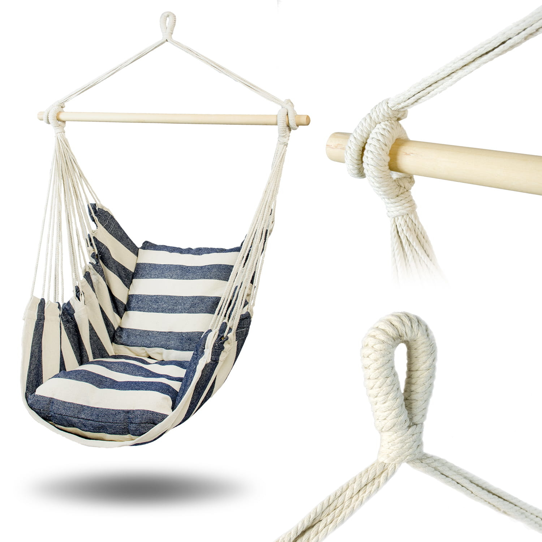 Viking Choice Braziljaanse schommelstoel - 100 x 100 cm - met kussens