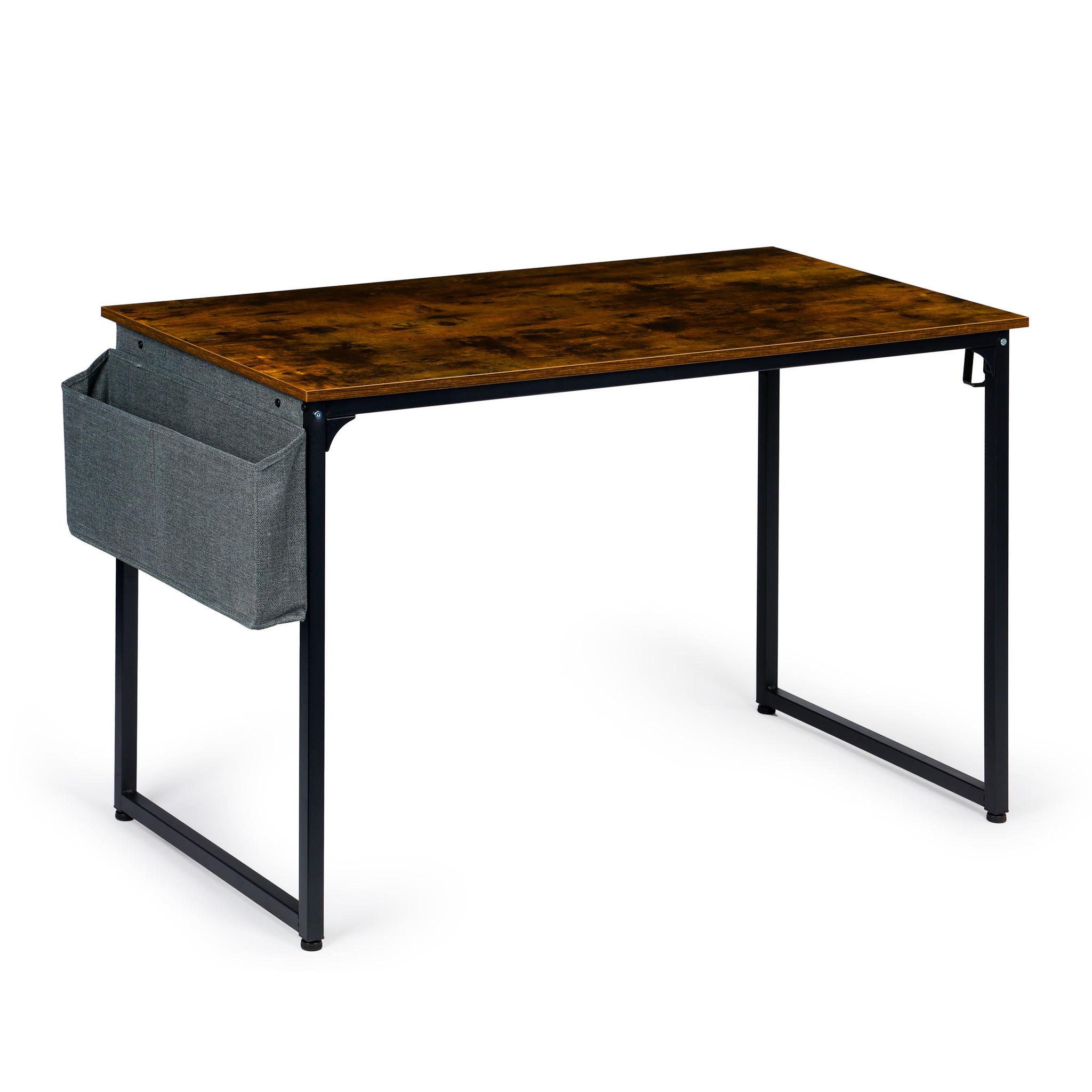 Viking Choice Bureautafel met tijdschriften tas - 120 x 60 x 74 cm - bruin