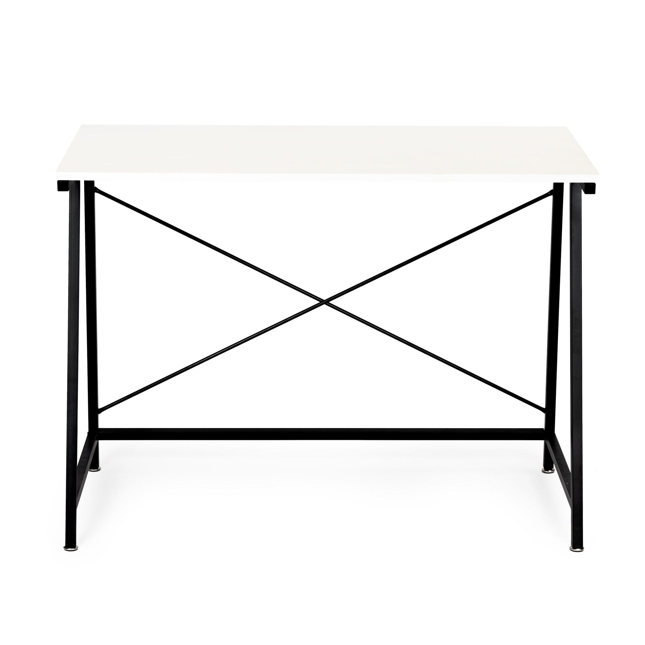 Viking Choice Bureautafel basic - 100 x 50 x 74 cm - zwart met wit