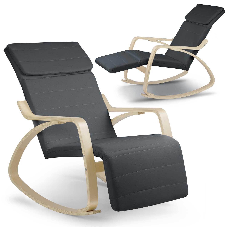 Viking Choice Relax schommelstoel - grijs met wit - tot 150 kg belasting