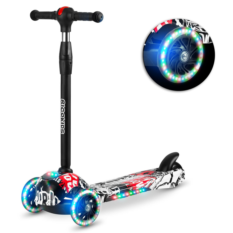 Viking Choice Kinder step - driewieler - met led verlichte wielen - wit met rood