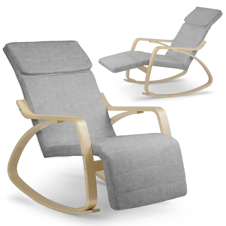Viking Choice Relax schommelstoel - lichtgrijs - tot 150 kg belasting