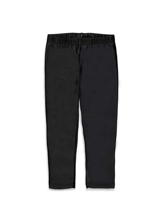Legging lederlook Zwart