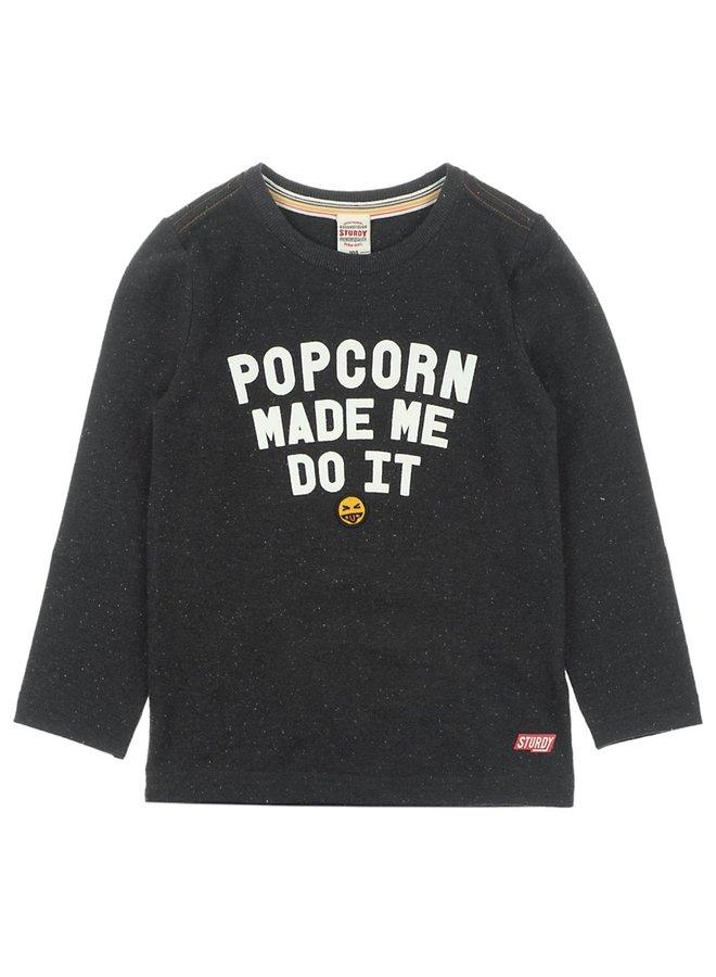 Longsleeve Popcorn - Popcorn Power Zwart melange