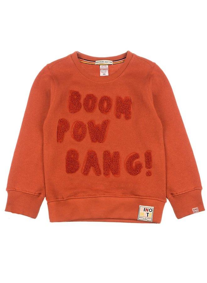 Sweater Boom - Dino-mite Roest