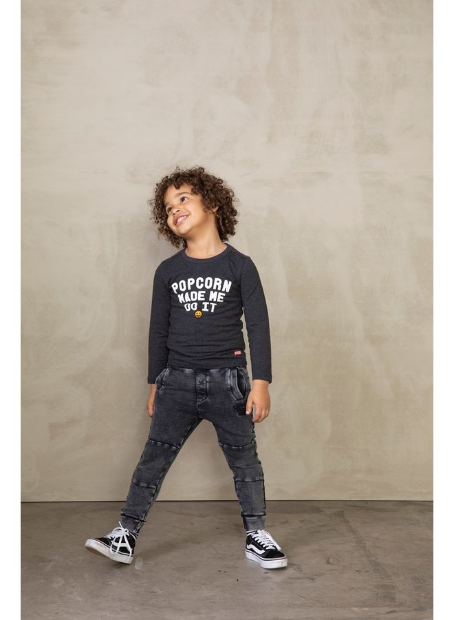 Broek Acid Wash - Popcorn Power Antraciet maat 128