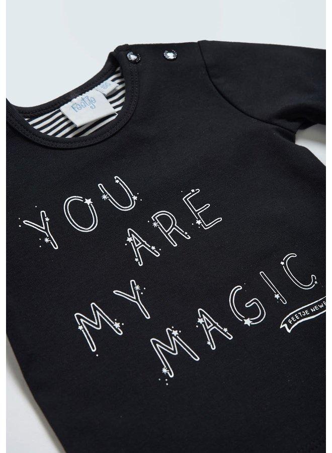 Longsleeve My Magic - Hello World Zwart