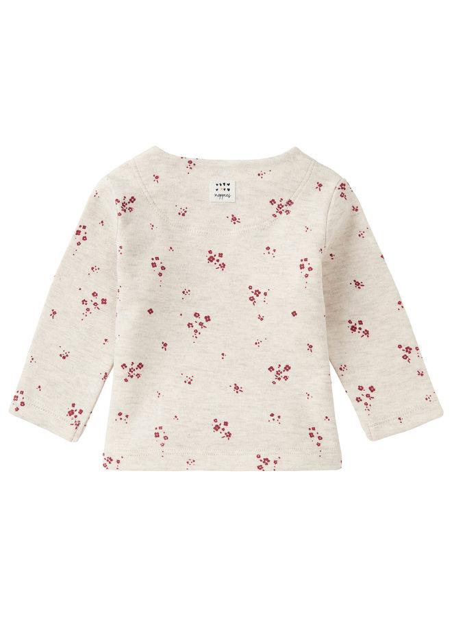 G Regular T-Shirt LS Mankato AOPRAS1202 Oatmeal