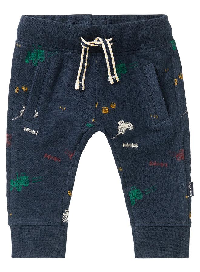 B Slim fit Pants Jansenville AOPDark Sapphire