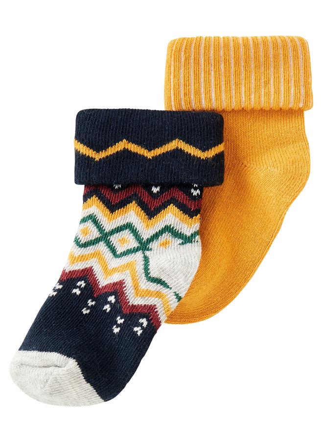 B Socks 2 pack NapierDark Sapphire