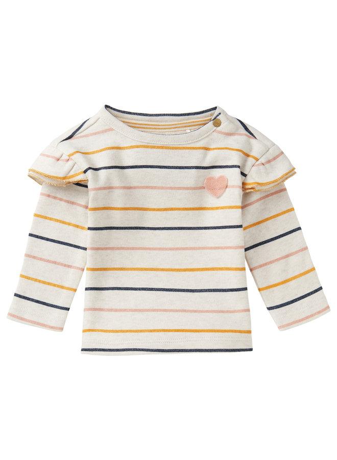 G Regular T-Shirt LS Rietfontein StrRAS1202 Oatmeal