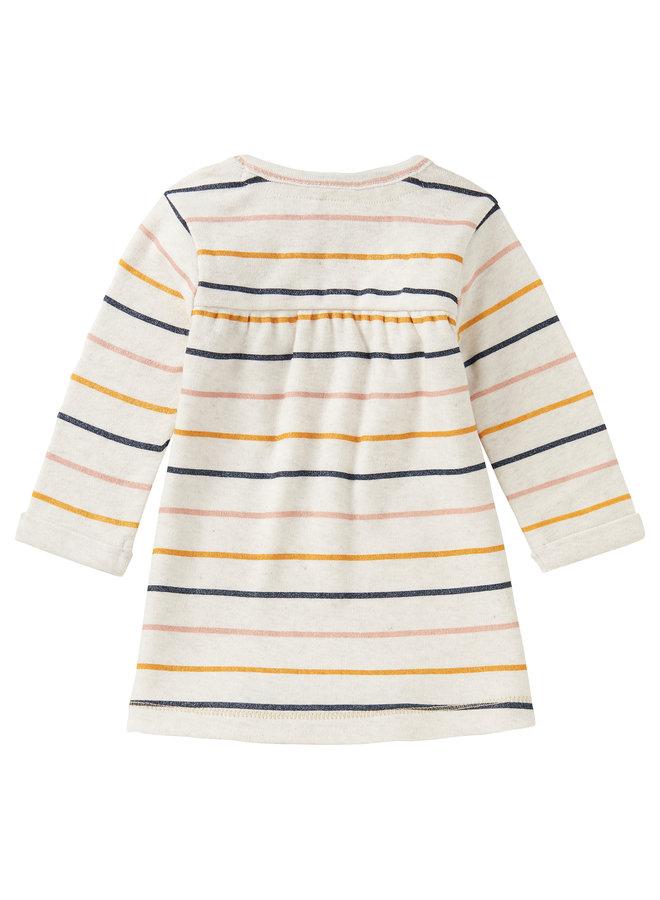 G Dress LS Nababeep StrRAS1202 Oatmeal