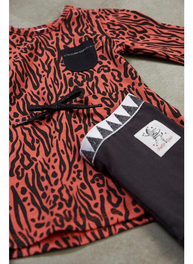 Jurk AOP - Zebra Brique maat 86