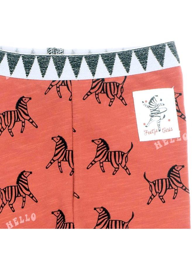 Legging AOP - Zebra Brique maat 80