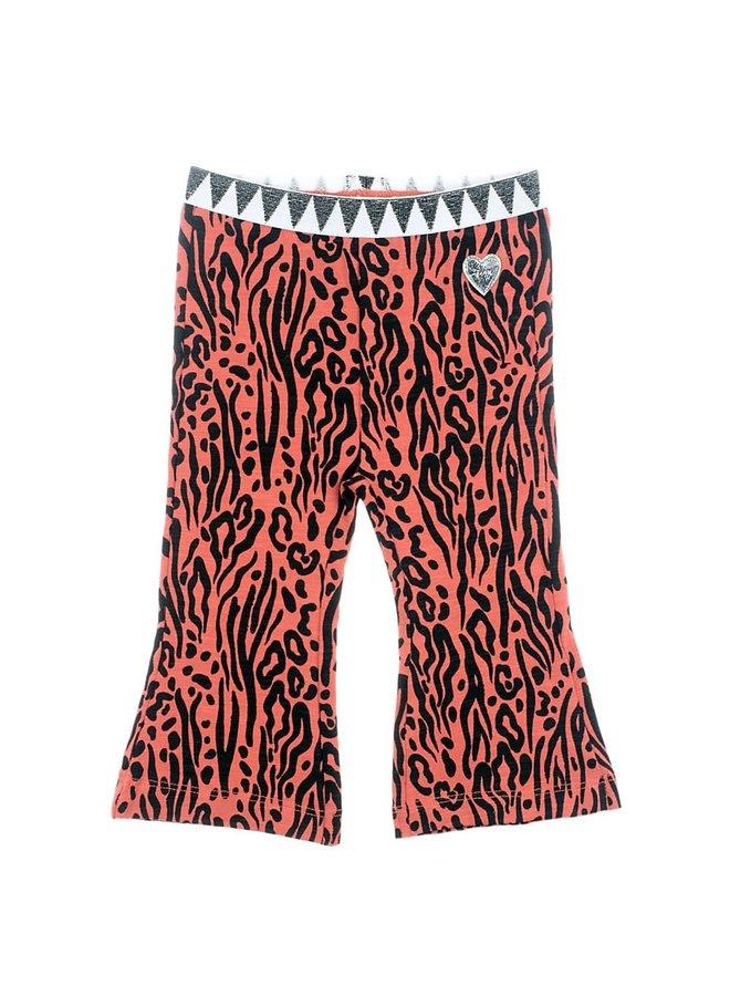 Flare broek - Zebra Brique