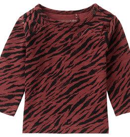 U T-Shirt LS Kroonstad AOPMahoganey