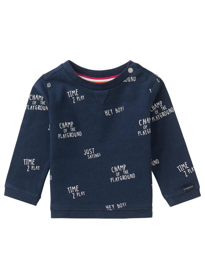 B T-Shirt LS Birkenhead AOPPeacoat