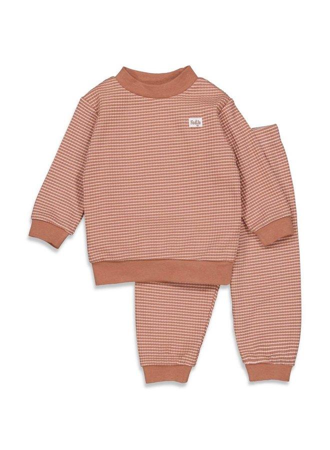 Pyjama wafel hazelnoot