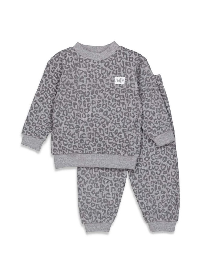Pyjama wafel antraciet fashion