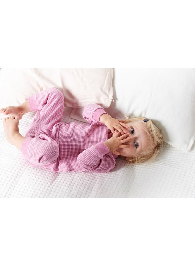 Pyjama wafel Roze melange