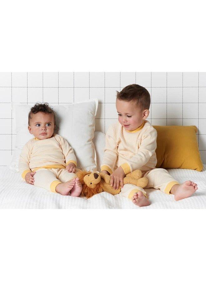 Pyjama wafel Okergeel