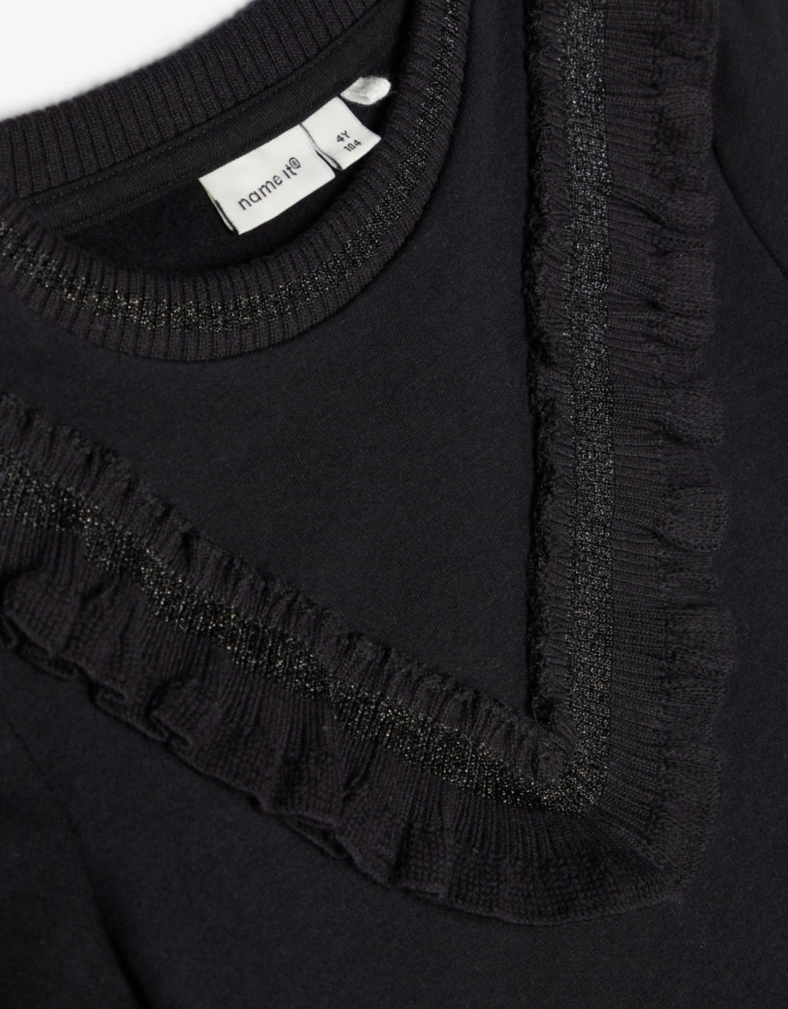 Name-it tolu sweat dress black
