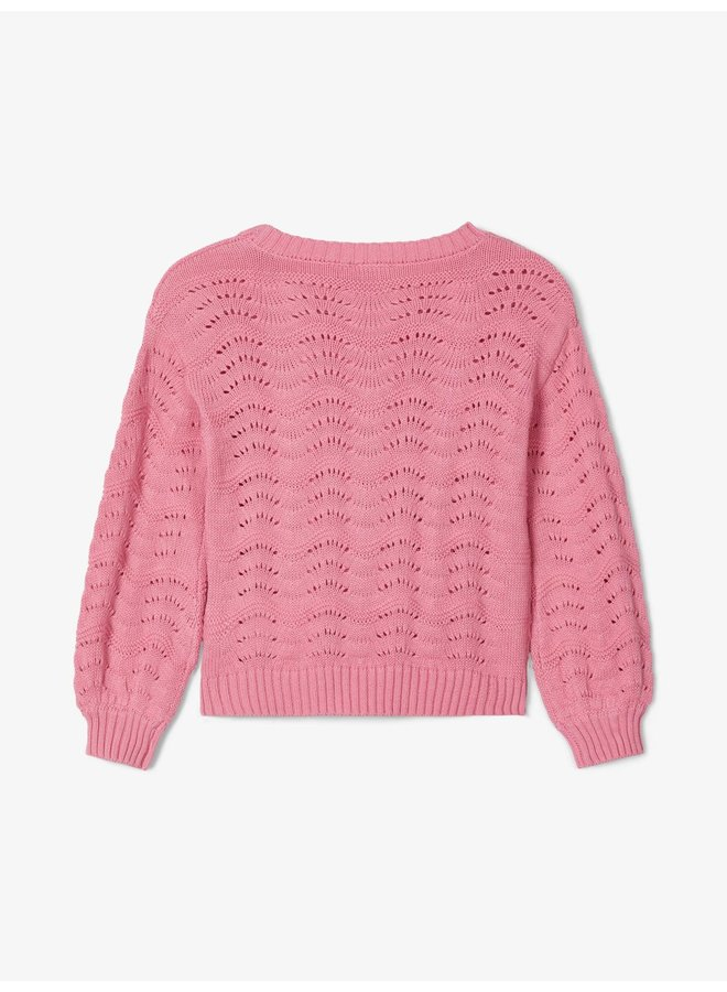 NMFNISIA LS KNIT Wild Rose maat 98