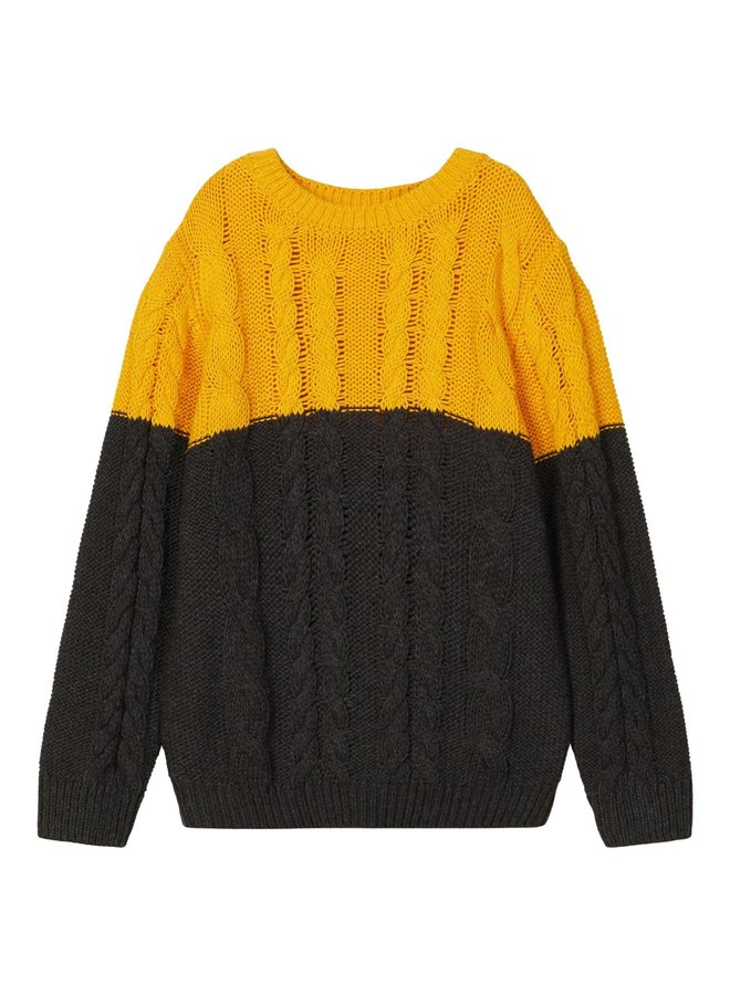 NMMOVENNE LS KNIT Golden Rod