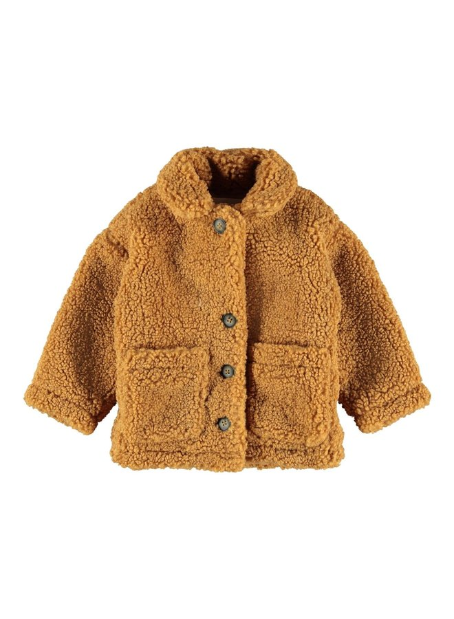 NMFMORA TEDDYJACKET Brown Sugar