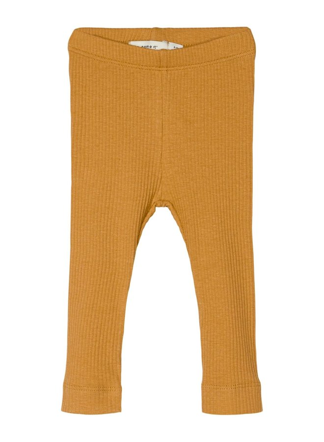 NBFKABEX LEGGING NOOS Spruce Yellow
