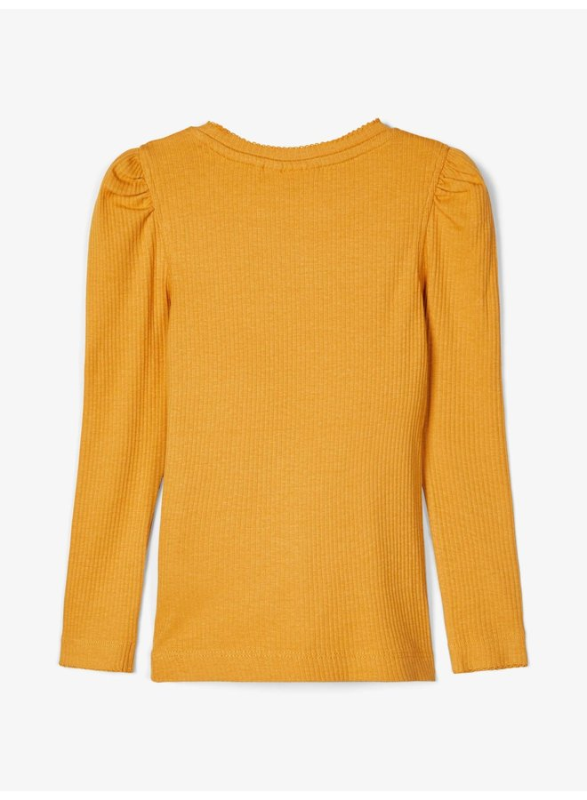 NMFKABEXI LS SLIM TOP NOOS Spruce Yellow