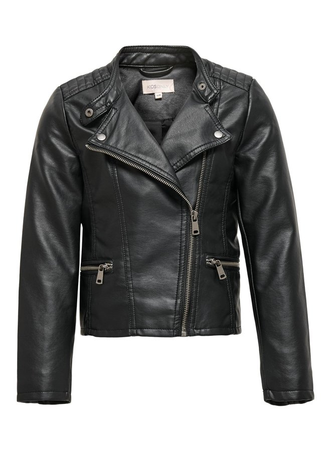 KONFREYA FAUX LEATHER BIKER OTW NOOS Black