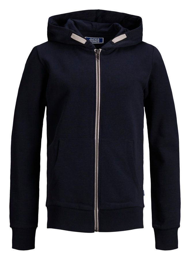 JJEHOLMEN SWEAT ZIP HOOD NOOS JR Navy Blazer