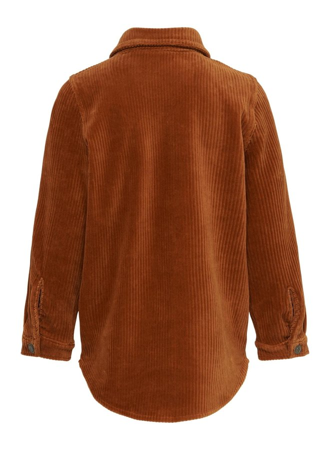 KONKELLY  CORD BUTTON SHIRT CS PNT Ginger Bread