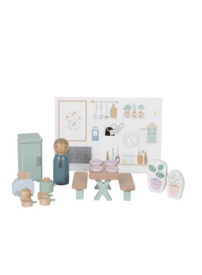 Uitbreidingsset poppenhuis - keuken