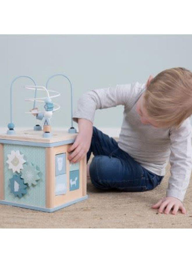 Little Dutch houten Activiteitenkubus blue
