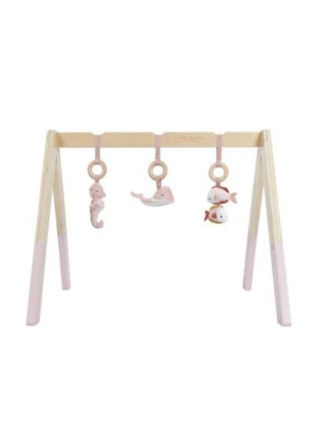 Little Dutch houten baby gym pink