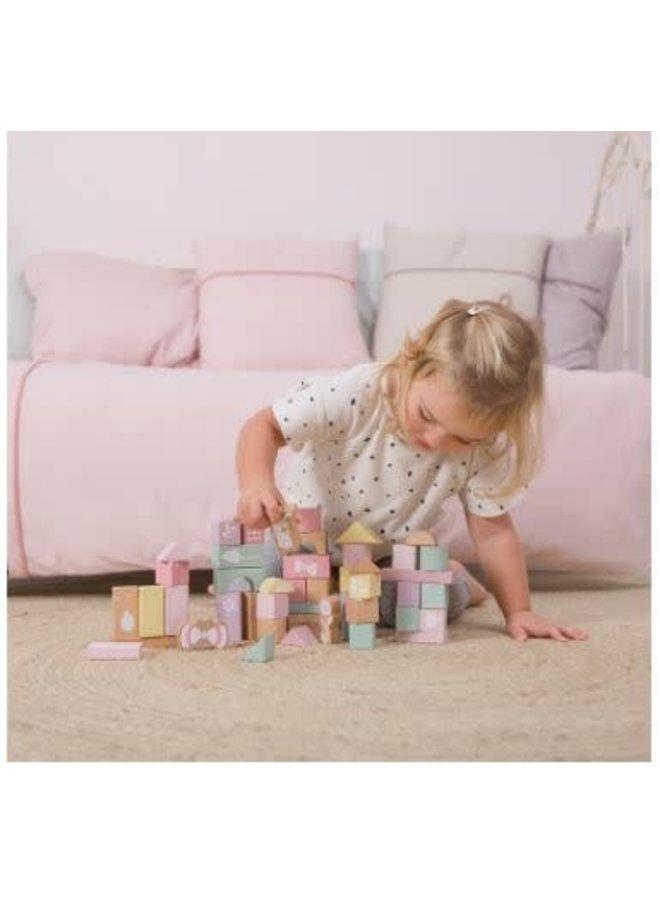 Little Dutch houten blokken ton pink
