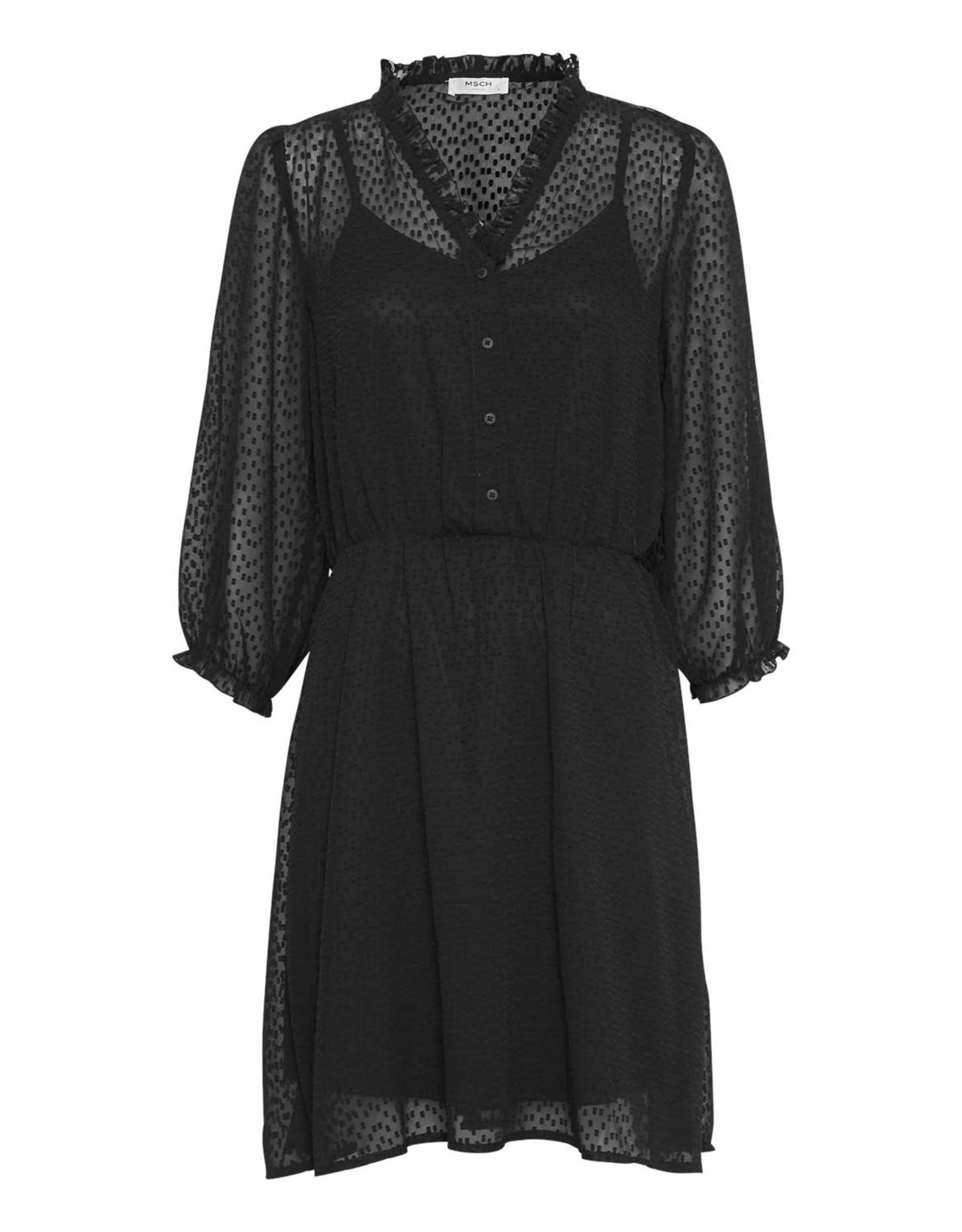 Ayella 3/4 dress black