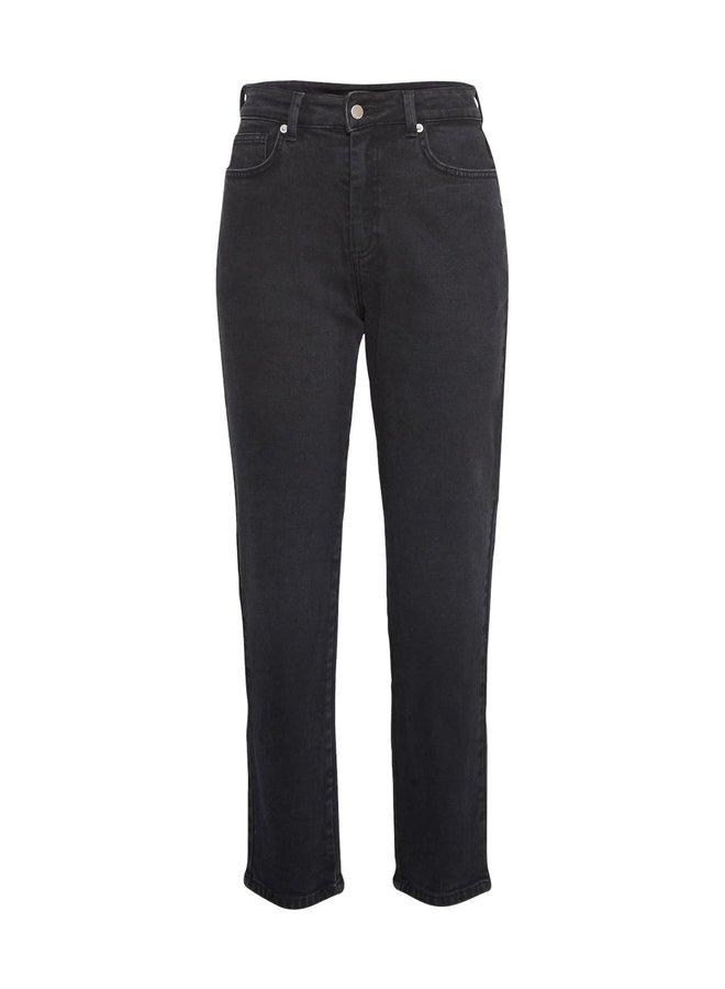 Crystal Mom Jeans BLACK WASHED