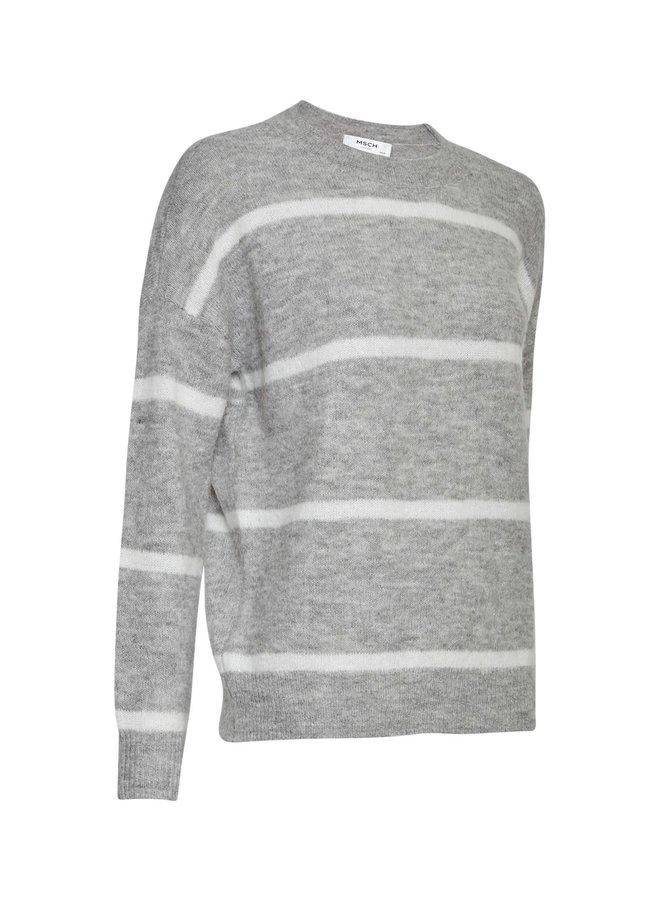 Femme Alpaca Stripe Pullover LGM/EGRET