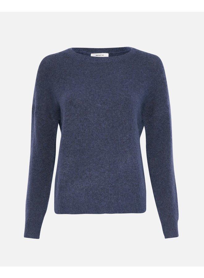 Femme Mohair O Pullover GRAY BLUE MEL XS/S