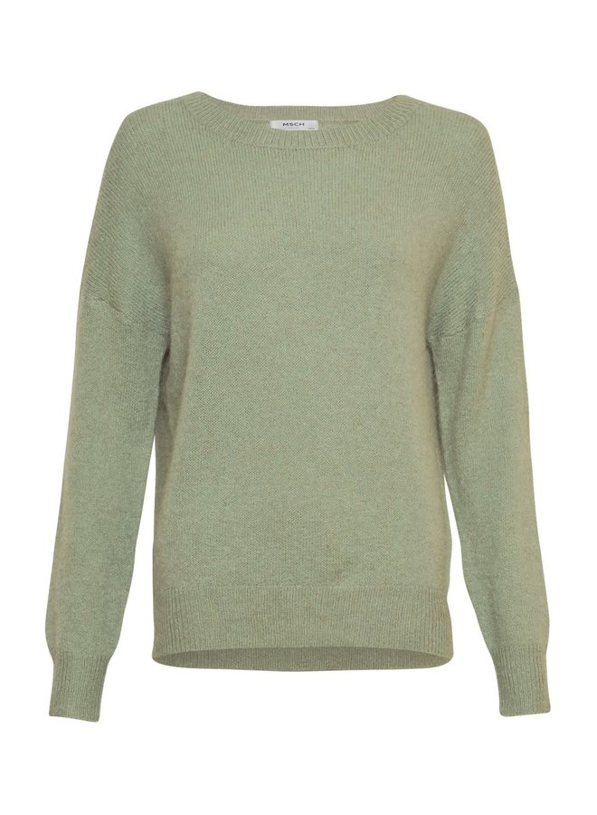 Femme Mohair O Pullover SAGE maat S/M