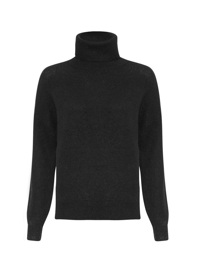 Femme Mohair Roll Neck Pullover BLACK