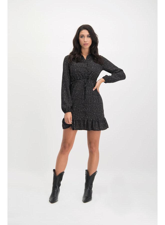 Dress Gaby black - brown Black