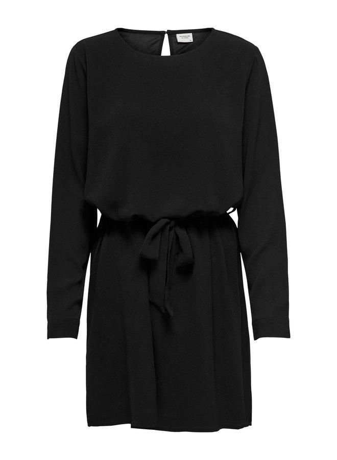 JDYAMANDA L/S BELT DRESS WVN NOOS Black