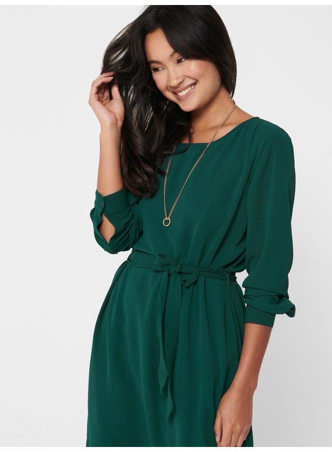 JDYAMANDA L/S BELT DRESS WVN NOOS Ponderosa Pine