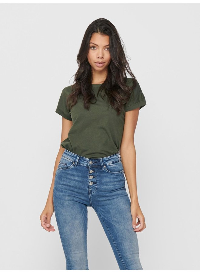 JDYLOUISA NEW LIFE S/S TOP JRS NOOS Forest Night maat M